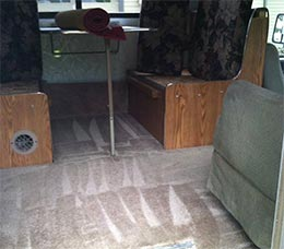 Recreational vehicle carpet cleaning services in Everett, WA.
