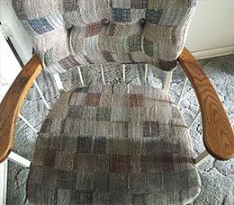 Upholstery steam cleaning in Everett, WA.