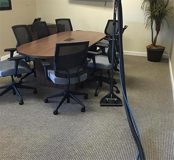 Clean conference room from our carpet cleaning expert in Everett, WA.